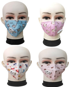 Kids KN95 Mask Child Safety 4 Layer Protective Mask Anti Dust Pm2.5 Masks KN95 Respirator Filter Valve Child Face Mask