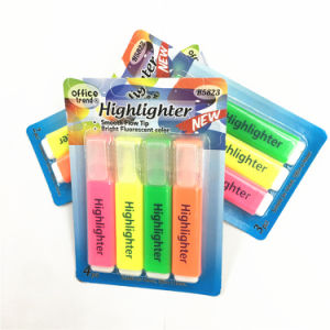 Promotion Gift Fashion Design 4pk Highlighter Pen Set with Logo