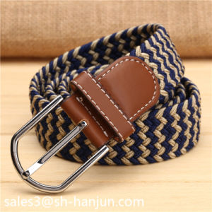 Elastic Webbing PU Leather Belt