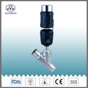 Sanitary Stainless Steel Clamp Angle Seat Valve with Intelligent Electric Valve Positioner pictures & photos