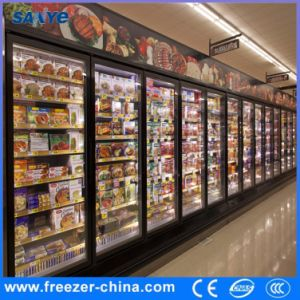 5 Shelves Glass Door Display Cooler for Convenience Store pictures & photos