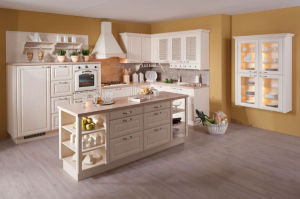 Home Furniture Offer Solid Wood Kitchen Cabinet with Granite Marble Countertop and Stainless Steel Sinks
