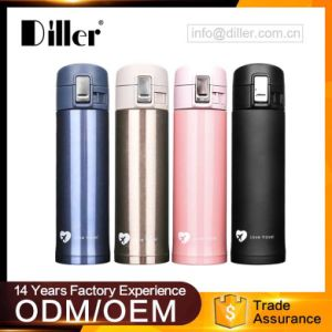 China Diller Whole Double Wall Insulated 304 Stainless Steel Vacuum Thermos Flask Water Bottle