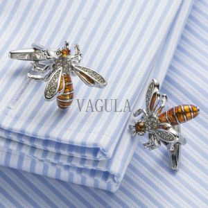 VAGULA Designer Bee Cufflinks Funny Cuff Links Wedding Gift Gemelos 517 pictures & photos