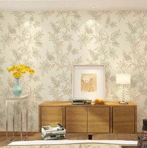 Seamless Wallpaper Fabric Embossing Pastoralism Living Dining Bedroom