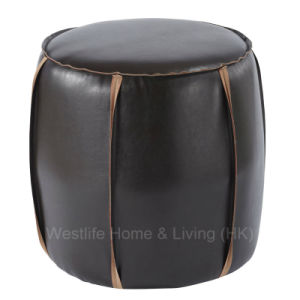 Fabulous Round Bonded Leather Ottoman Wh6037 Theyellowbook Wood Chair Design Ideas Theyellowbookinfo