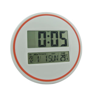 Digital Wall Clock LED Display with Temp and Calendar pictures & photos