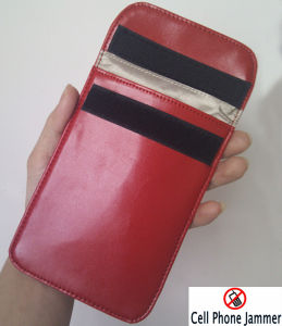 RFID Signal Jammer Blocker Bag Leather for Cell Phone
