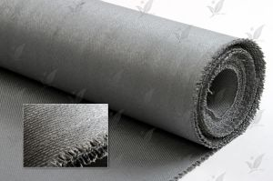 Silicon Coated Fiberglass Cloth Silver Gray Colour pictures & photos