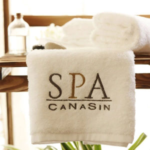 Luxury Hotel & SPA White Terry Bath Towels with Logo pictures & photos