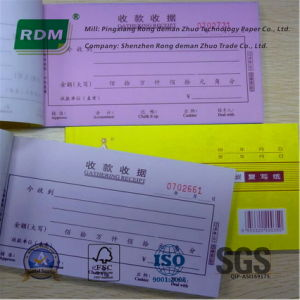 china customized receipt book made from woodfree uncoated paper or