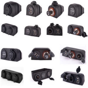 Port Motorcycle Cardual USB Power and Voltmeter Charger Plug Socket pictures & photos