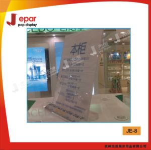 Free Sample Promotional Clear Acrylic Table Top Display Holder