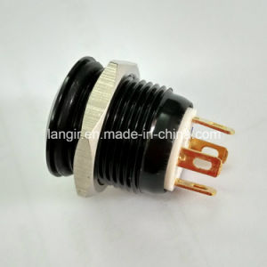 16mm Aluminum Black Short Body 12V White LED Car Switch pictures & photos