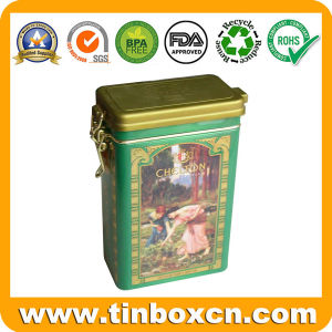 Rectangular Coffee Tin Box with Airtight Lid, Metal Coffee Can pictures & photos
