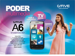 Gfive A6, Smart Phone Mobile Phone Cell Phone with FCC, Ce,