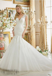 2016 Mermaid off-Shoulder Bridal Wedding Gown 2882 pictures & photos