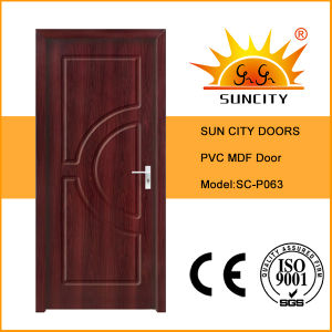 Single New Design PVC Coat Interior Room Doors (SC-P063) pictures & photos