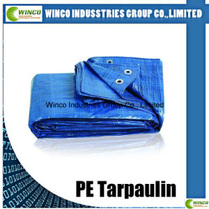 Salable Waterproof PE Laminated 190GSM Blue/White PE Canvas Tarpaulin, Truck Cover PE Tarpaulin pictures & photos