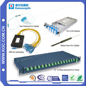 Fiber Optic PLC Splitters Couplers for FTTH Network pictures & photos