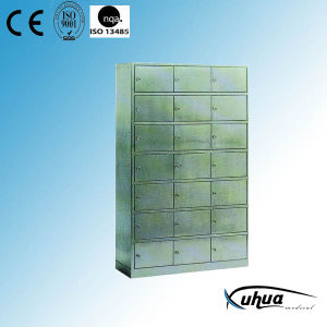 Stainless Steel Hospital Appliance Cupboard for Shoes Storage (U-18) pictures & photos