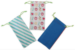 Customer Printing Microfiber Cell Phone Pouch, Glasses Bag