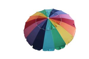 Large Umbrella, Rainbow Umbrella, 7.9FT Outdorr Umbrella, Patio Umbrella