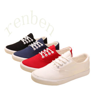 New Sale Vulcanized Women′s Canvas Shoes pictures & photos
