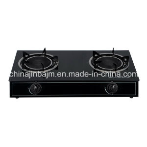 2 Burners Tempered Glass Top Stainless Steel Indian Burner Gas Stove /Gas Cooker pictures & photos