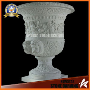 Surface Figure Marble Stone Carving Garden Flower Pot Stand (NS-11P12) pictures & photos