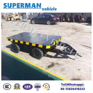 3t Utility Tractor Use Flatbed Industrial Cargo Drawbar Full Trailer pictures & photos