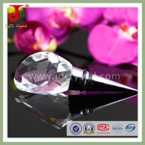 Optical Crystal Diamond Top Wine Bottle Stopper- Purple Wedding Favors pictures & photos