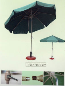 Hot Sale Turn Aluminium Garden Umbrella with Crank Hand for Outdoors (JB809)