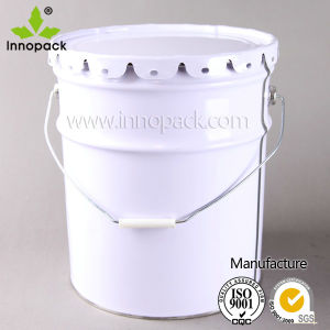 Whole Sale 22L Metal Pail for Paint and Chemical Packaging Factory Price pictures & photos