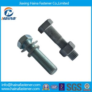 Grade 8.8 Carbon Steel Hot DIP Galvanized Hex Bolts/Hex Head Bolts with Hex Nut pictures & photos