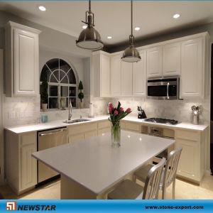 Newtar Stone Kitchen Island Top With Grey Brown Quartz Colors