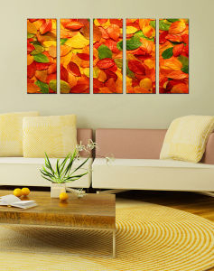 Colorful Tree Leaves Canvas Painting Wall Art Prints