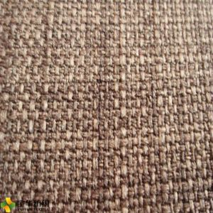 100 Polyester Flock Linen For Sofa Upholstery Fabric Curtain