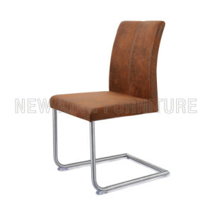 Modern Stainless Steel Foot PU Leather Dining Chair (NK-DC032)