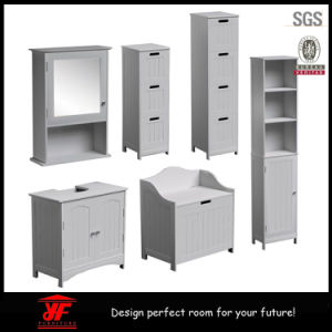 Waterproof Wooden MDF White Bathroom Cabinet