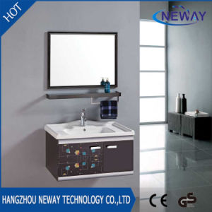 Simple Stainless Steel Bathroom Wall Cabinet With Mirror
