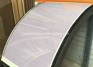 Curve Glass with Motorzied Honeycomb Shades Inside for Skylight