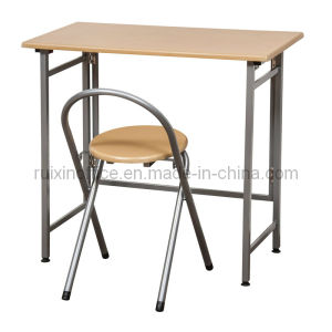 Metal and Wooden Dining Table with Chair (RX-D1118)