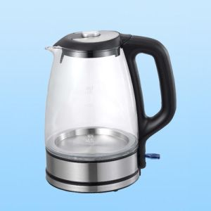 1.8L High Quality Electric Cordless Glass Kettle, CE/Sg/RoHS