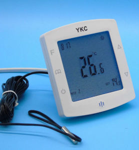 Double Sensor Programmable Room Floor Heating Thermostat with Touch Screen