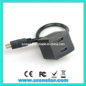 HDMI Splitter Cable/HDMI 1 Male to 2 Female Cable