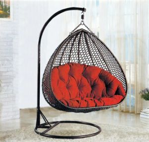 New Outdoor Swing Egg Chair, PE Rattan Furniture, Rattan Basket Double  Seater (D153