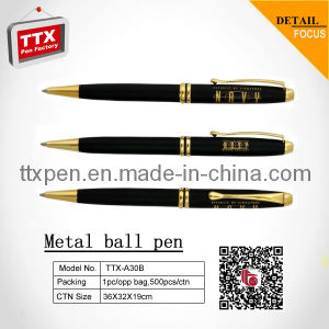 Popular Matt Black Barrel Metal Ballpoint Pen