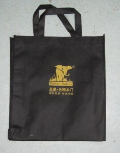 Black Non-Woven Gift Promotional Bags for Advertisement (FLN-9042)