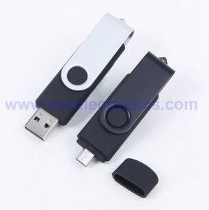 Logo Printed USB Flash Drive OTG Rotating USB Storage Device pictures & photos